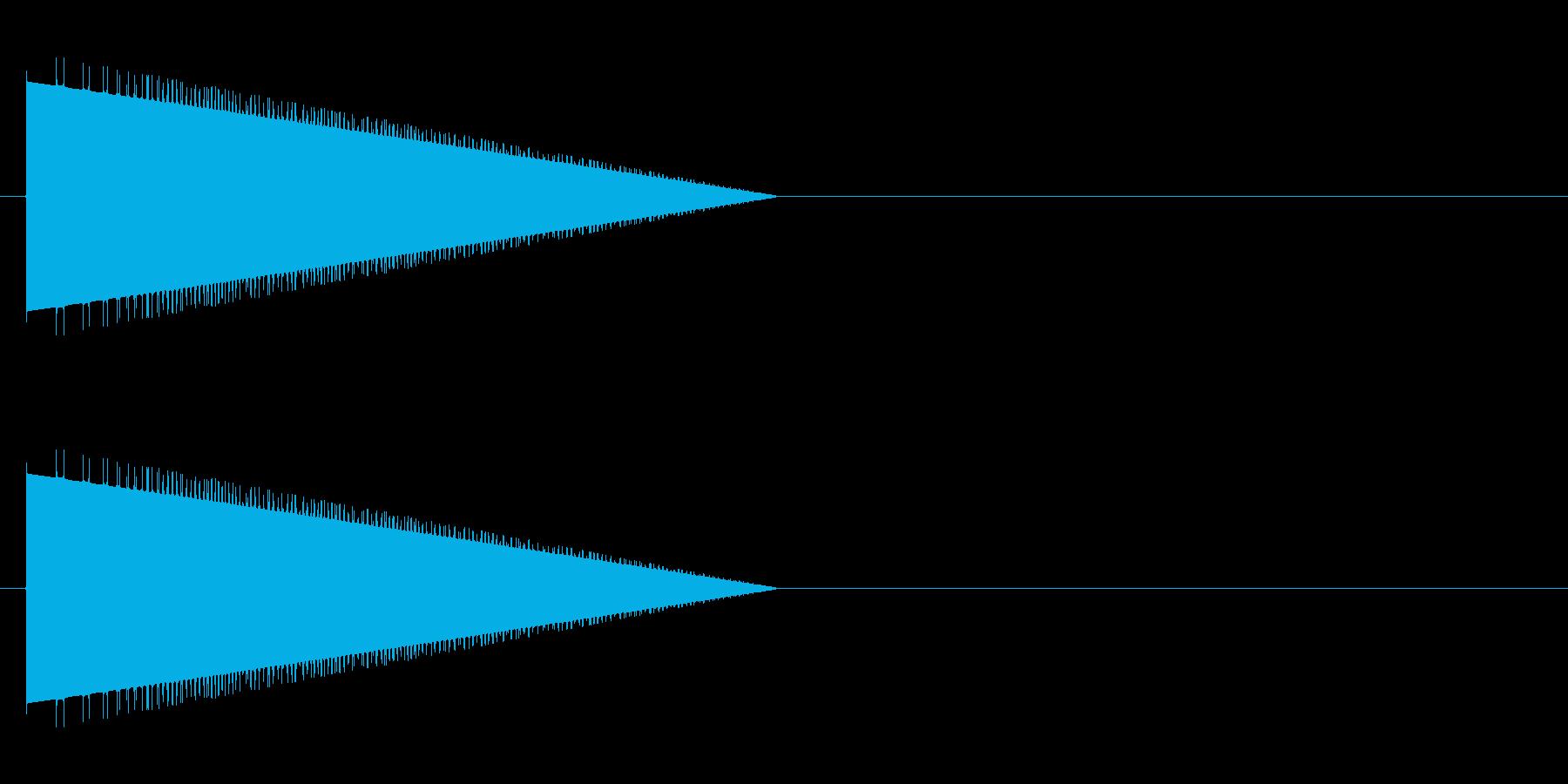 レトロゲーム風・モンスターの鳴き声#2の再生済みの波形