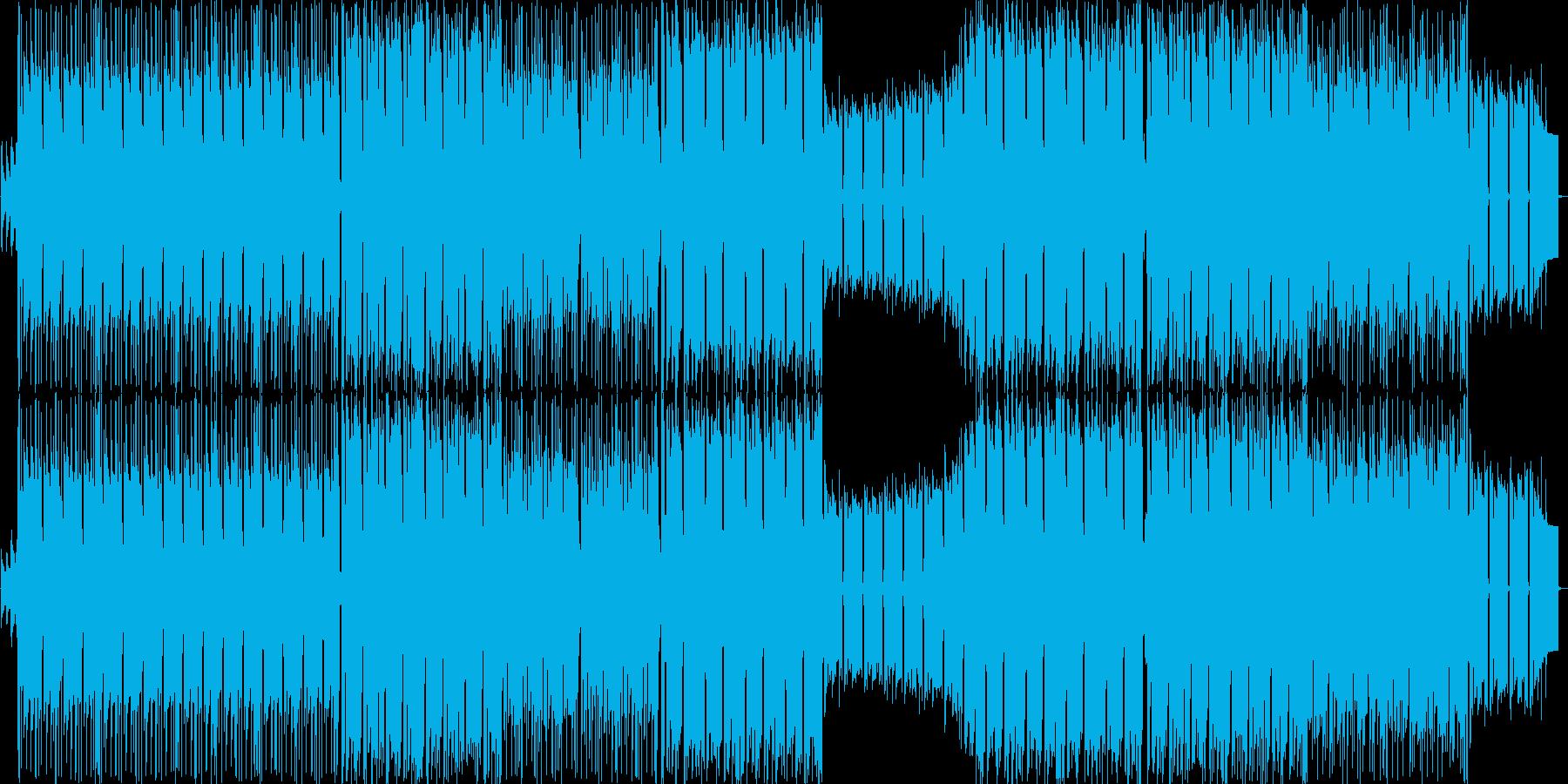 重低音の効いたシンセロックの再生済みの波形
