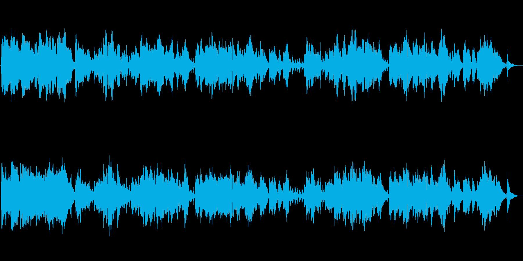 心が落ち着くリラクゼーションミュージックの再生済みの波形
