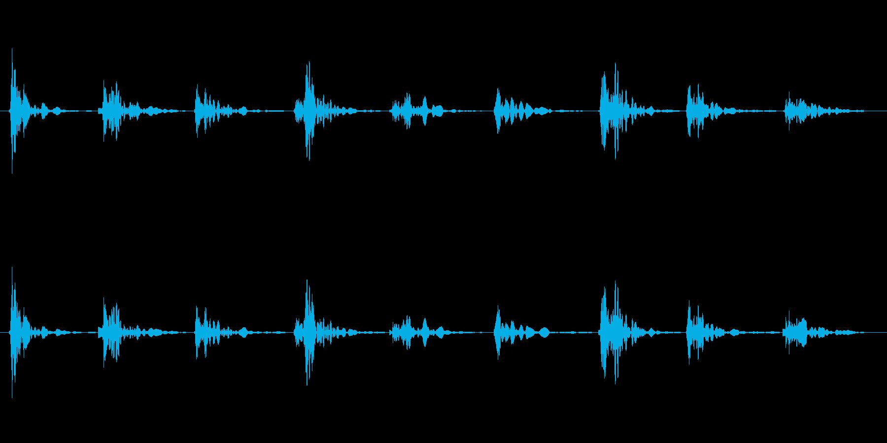 恐怖シリーズ11.家の階段を歩く音の再生済みの波形