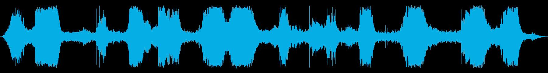 ザパーン(岩場の波の音)の再生済みの波形