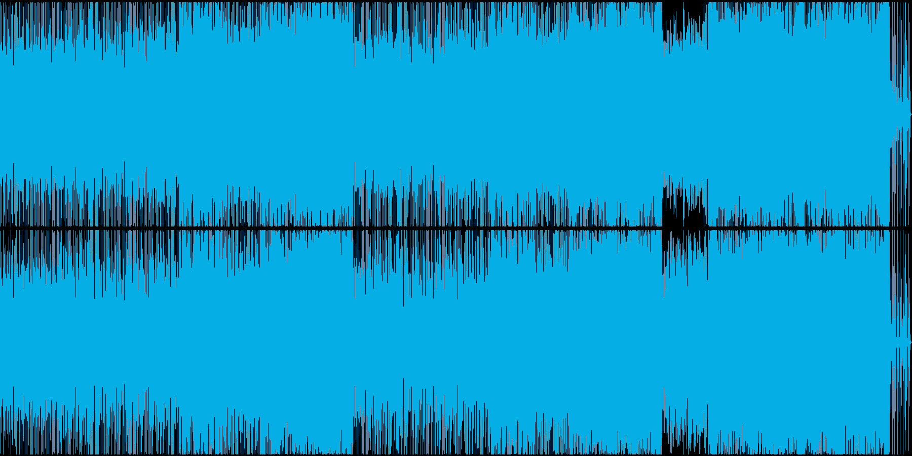 アラビア風の風変わりなテクノの再生済みの波形