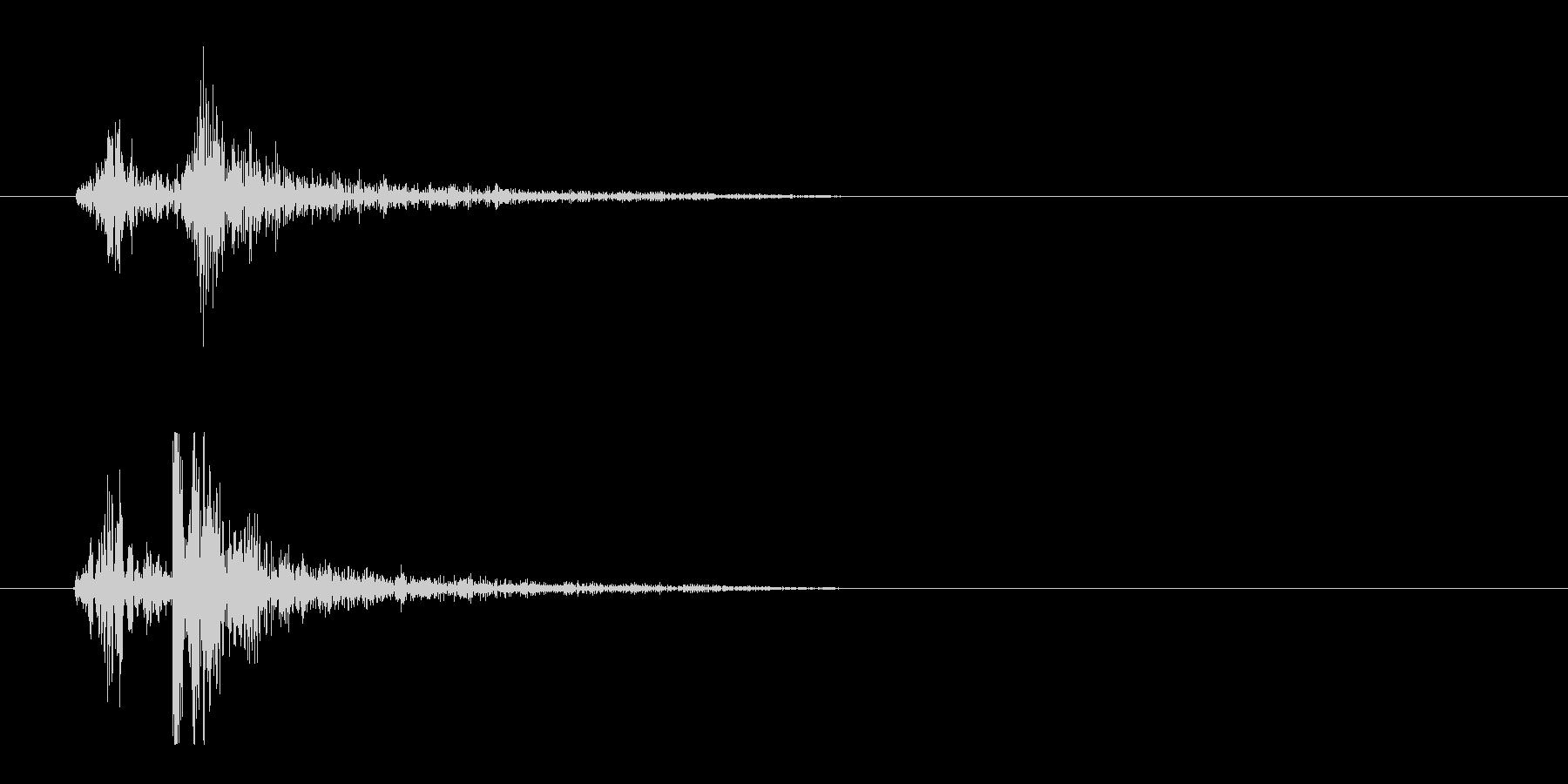 タイプライター押下時の音の未再生の波形