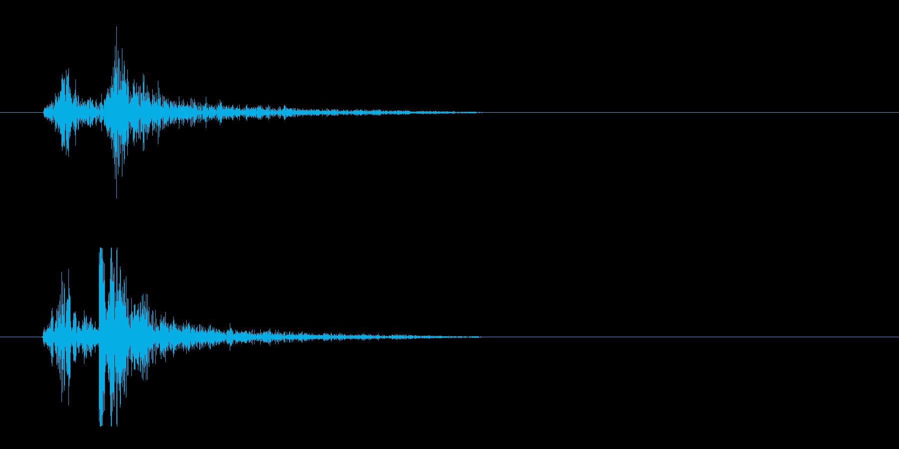 タイプライター押下時の音の再生済みの波形