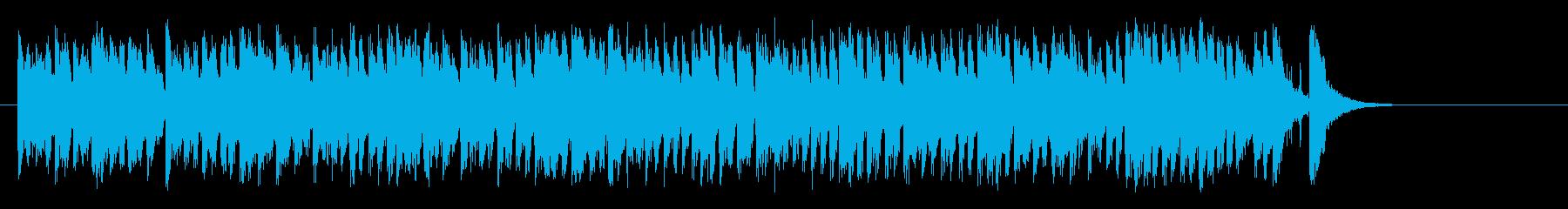 愛らしいコミカル調BGM(Bメロ~サビ)の再生済みの波形