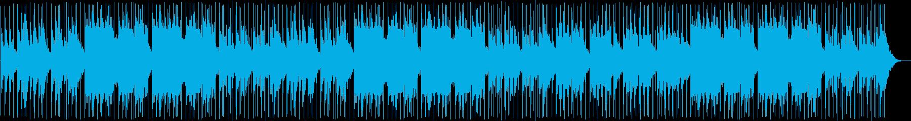 和太鼓のリズムが楽しい和風ミュージックの再生済みの波形
