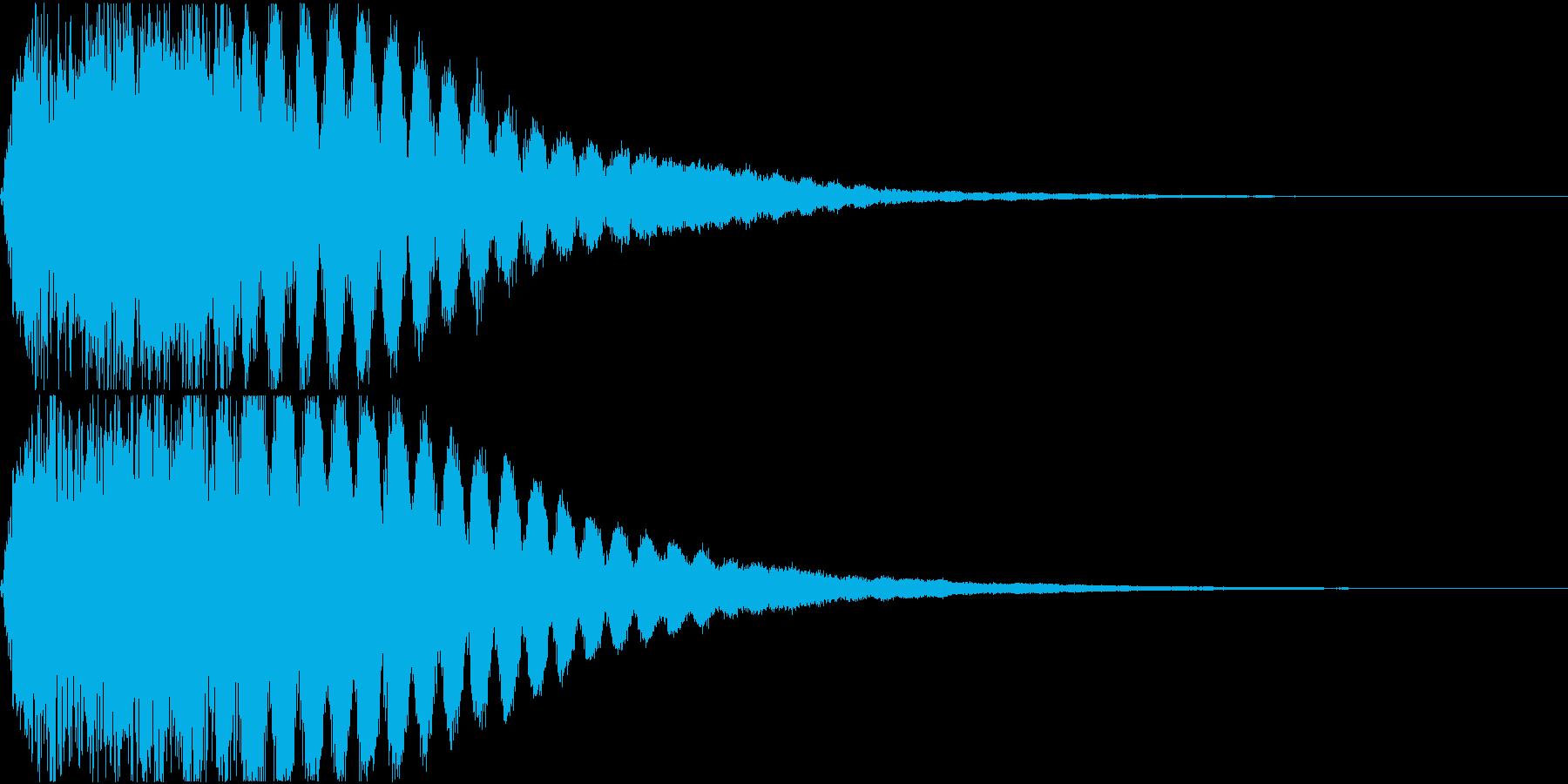 キュイン ギュイーン シャキーン 04の再生済みの波形