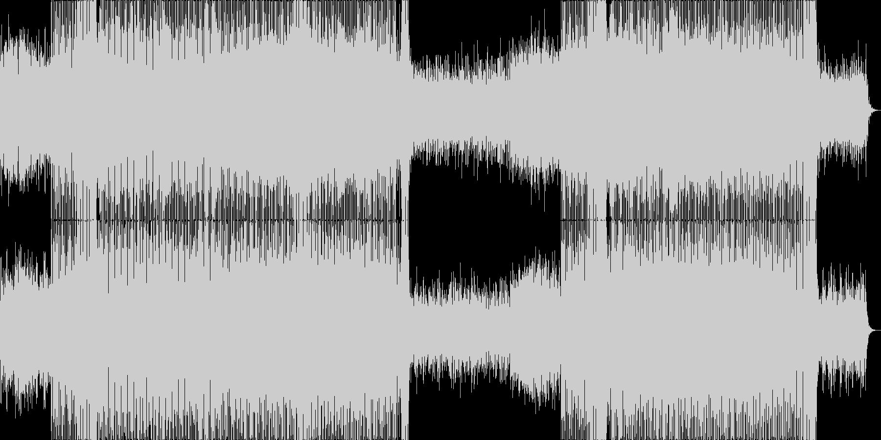 始まりを予感させるようなポップハウス曲の未再生の波形