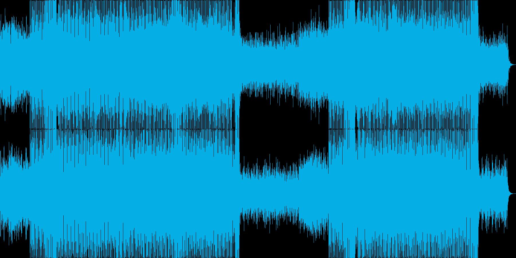 始まりを予感させるようなポップハウス曲の再生済みの波形