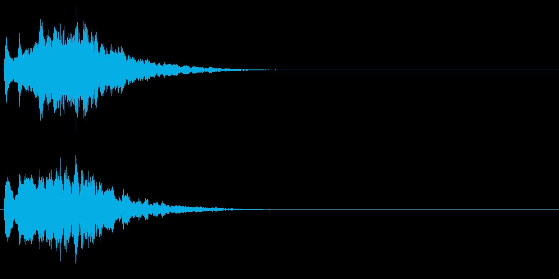 ジングル キラキラ系 その1の再生済みの波形