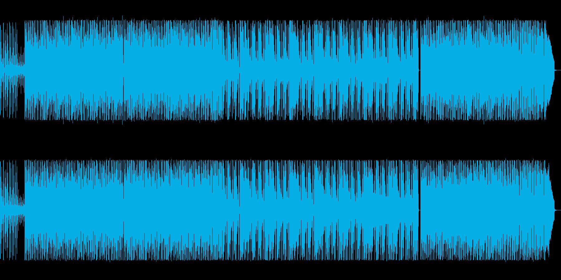 ワクワクしてこれから何かが始まる感じの曲の再生済みの波形