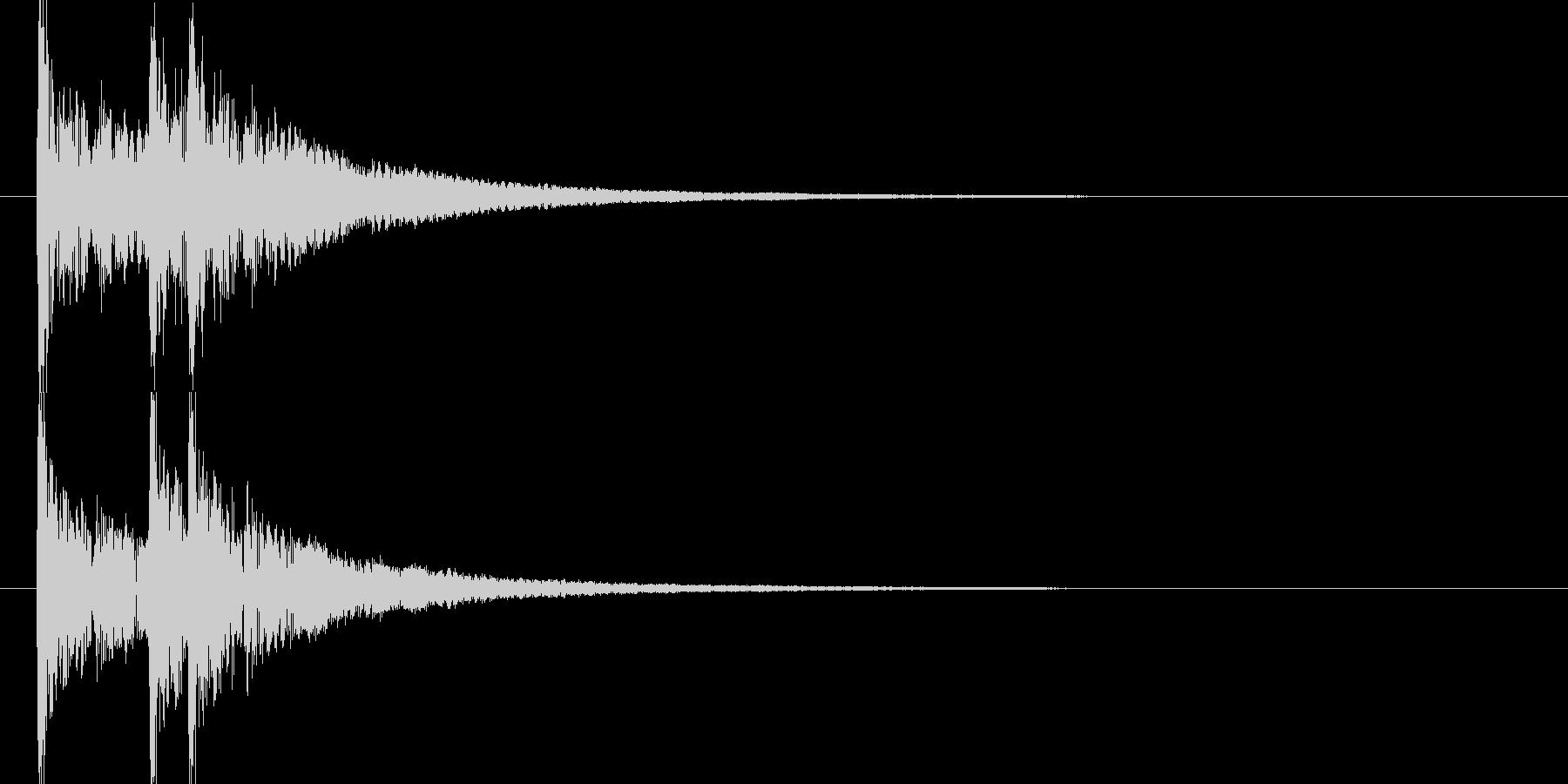 効果音_和太鼓ドンドドン(WAV)の未再生の波形