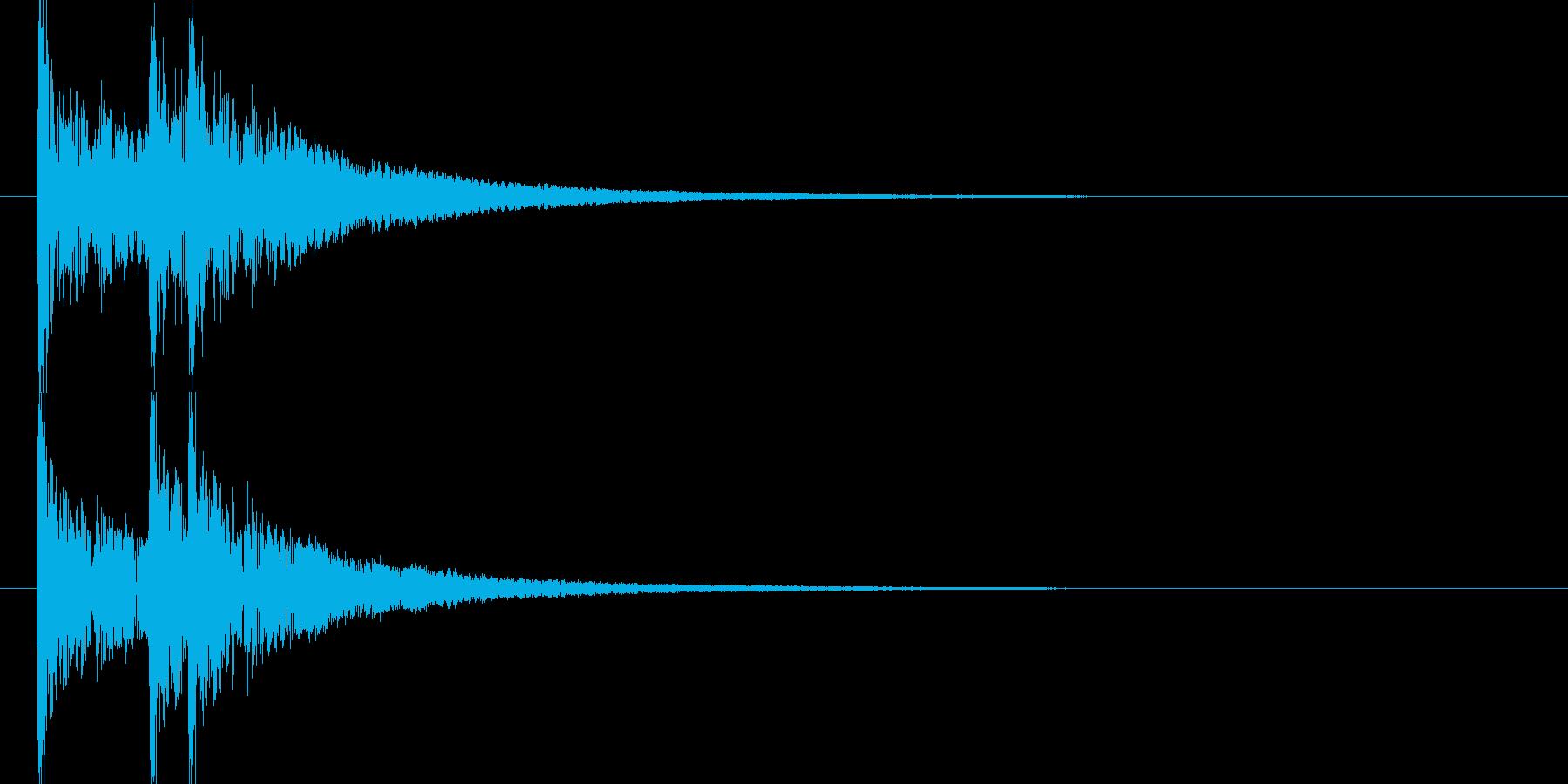 効果音_和太鼓ドンドドン(WAV)の再生済みの波形