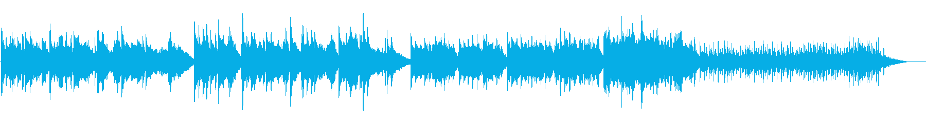 ピアノとストリングスの優しい曲05の再生済みの波形