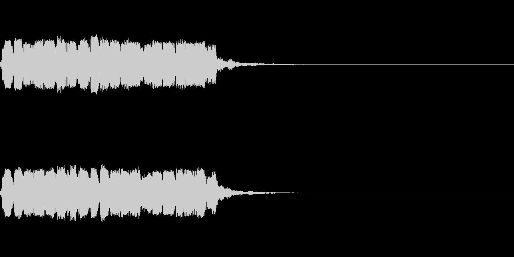 和風な笛のアイキャッチ(速め)の未再生の波形