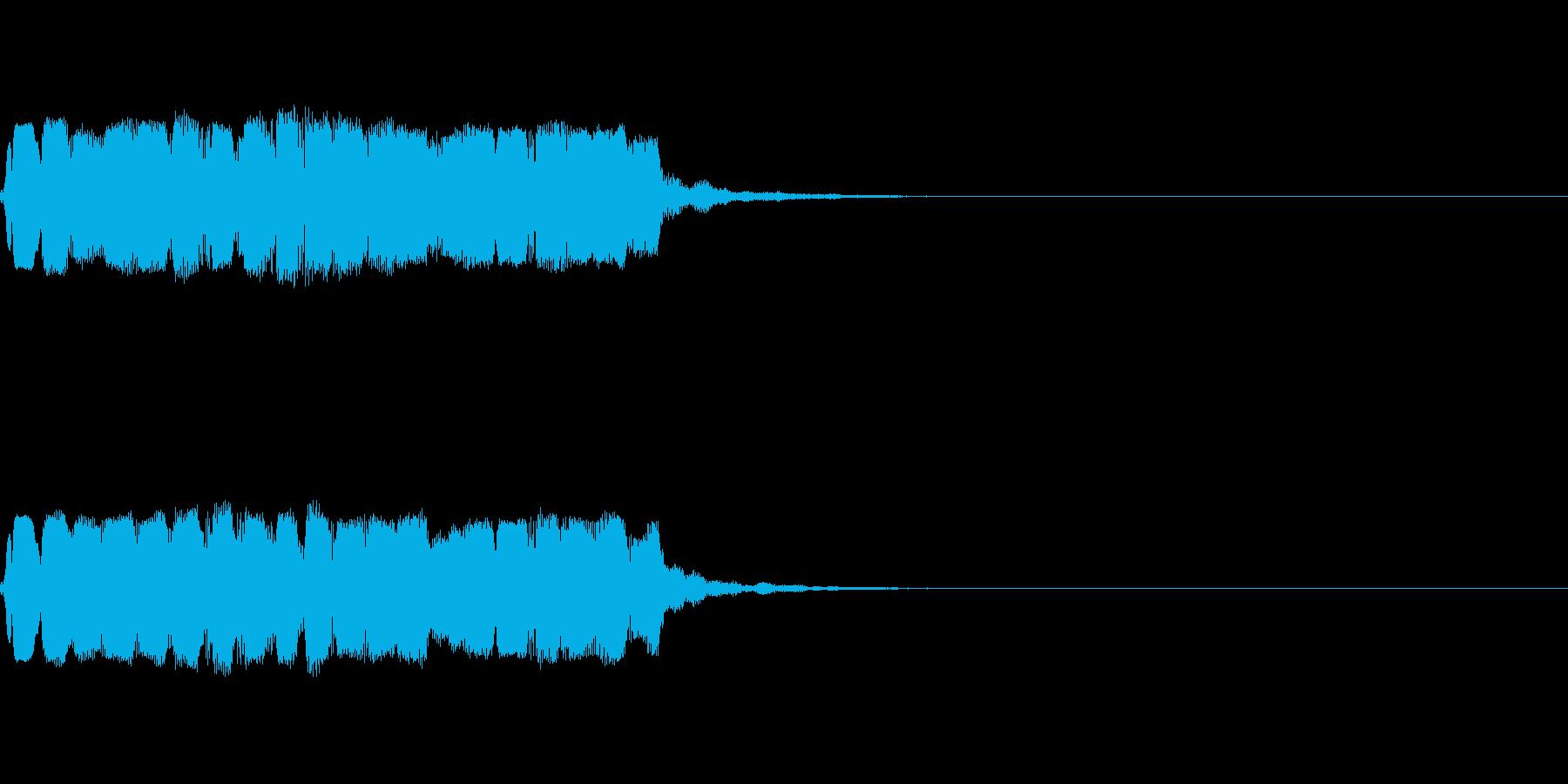和風な笛のアイキャッチ(速め)の再生済みの波形