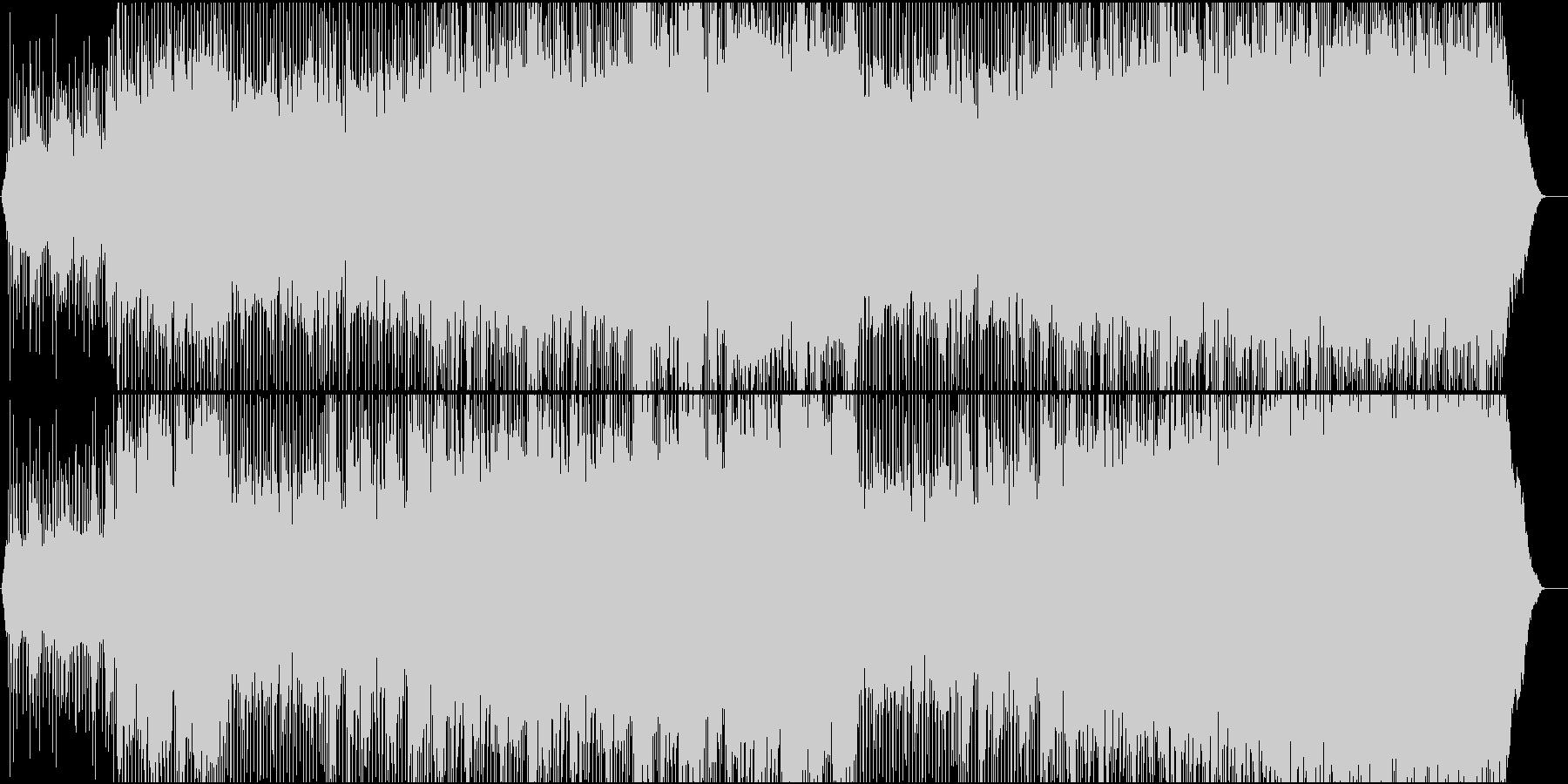 前向き高揚感のあるライトなビートの未再生の波形