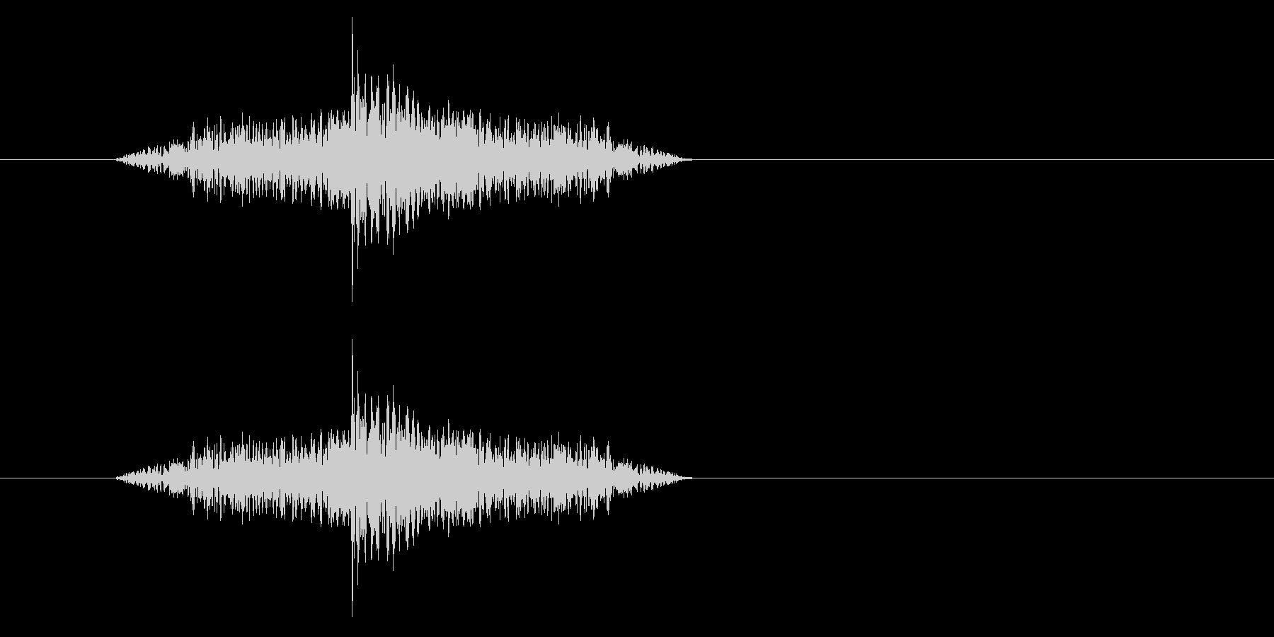ジャン!リバースオケヒその3_音程低めの未再生の波形