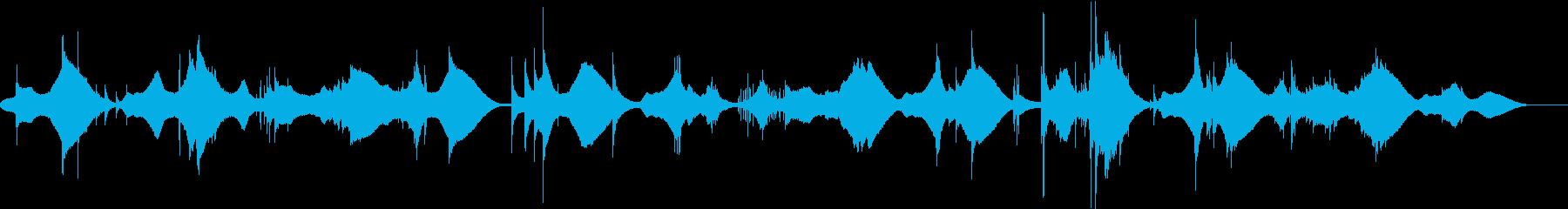 現代的で主張を抑えたアンビエントの再生済みの波形