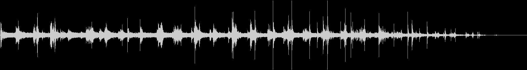 ピチョピチョ…ボールを水道水で洗う音の未再生の波形