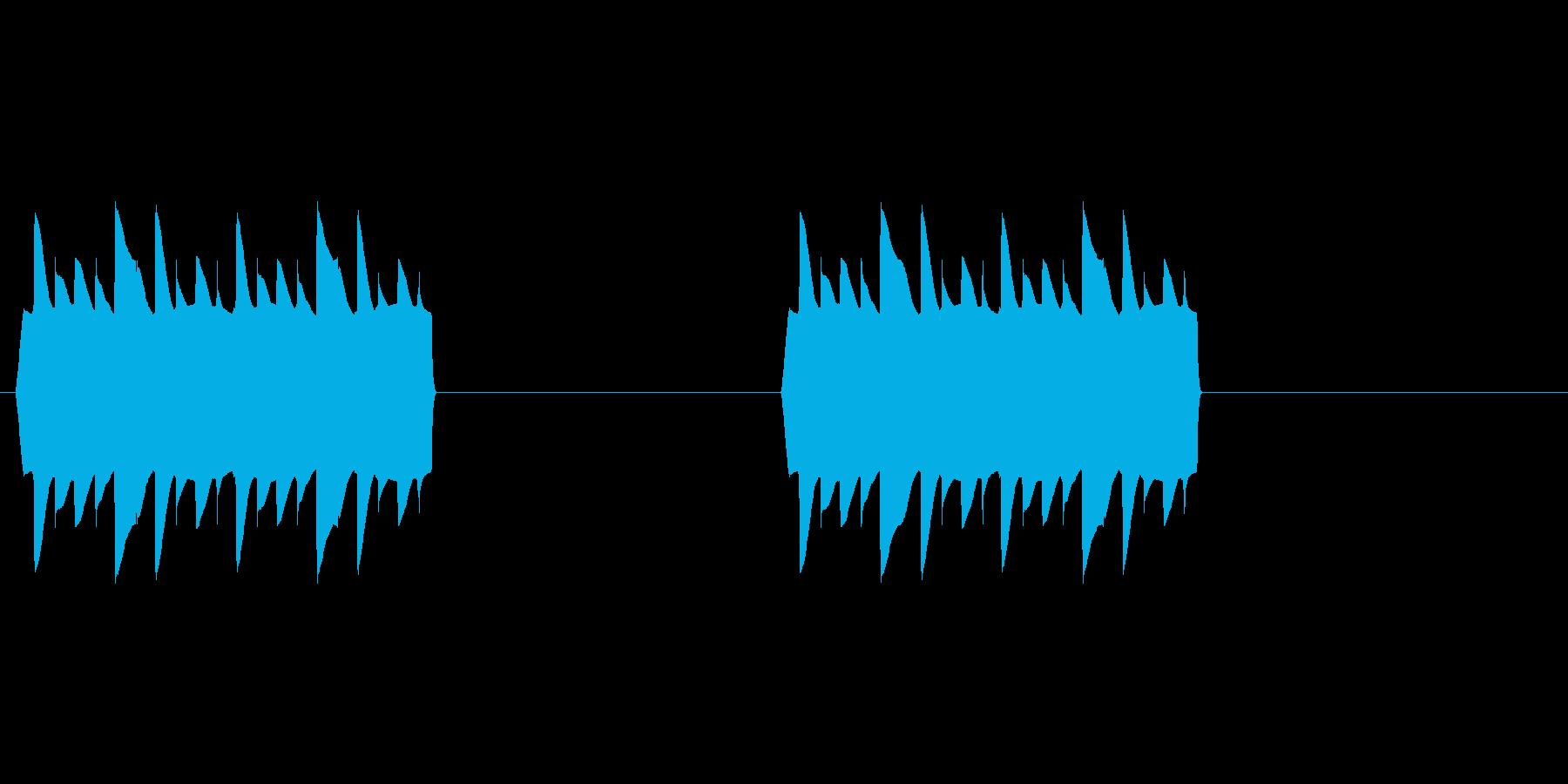 オードソックスな電話着信音です。の再生済みの波形