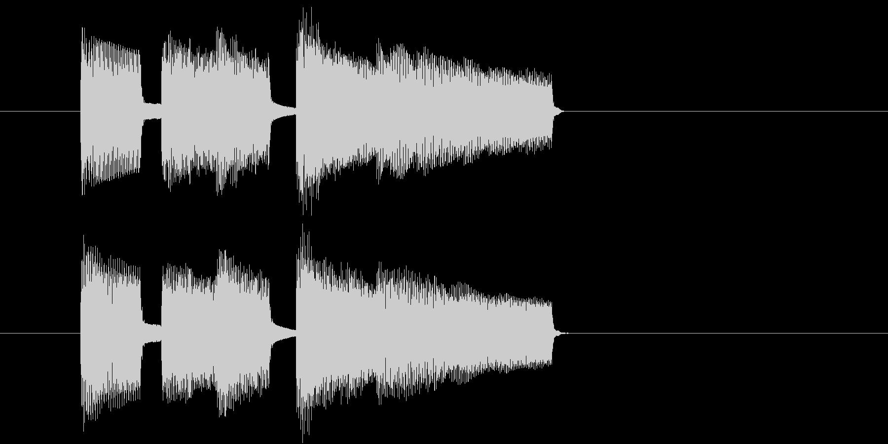 場面切り替えに使えるジングルの未再生の波形