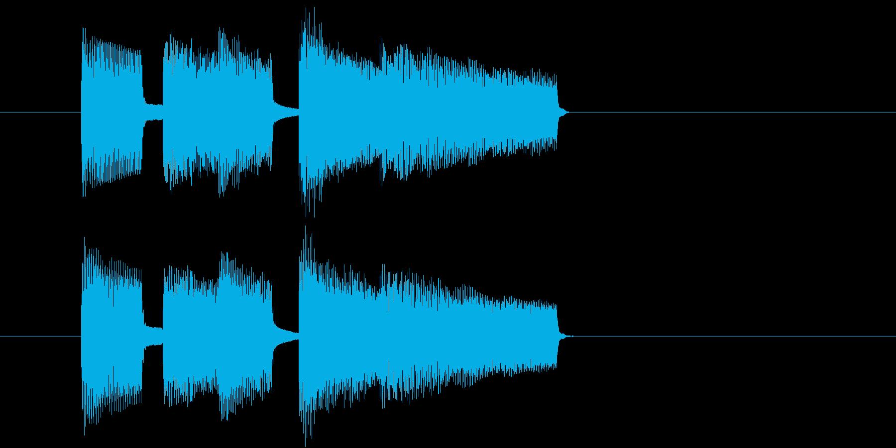 場面切り替えに使えるジングルの再生済みの波形
