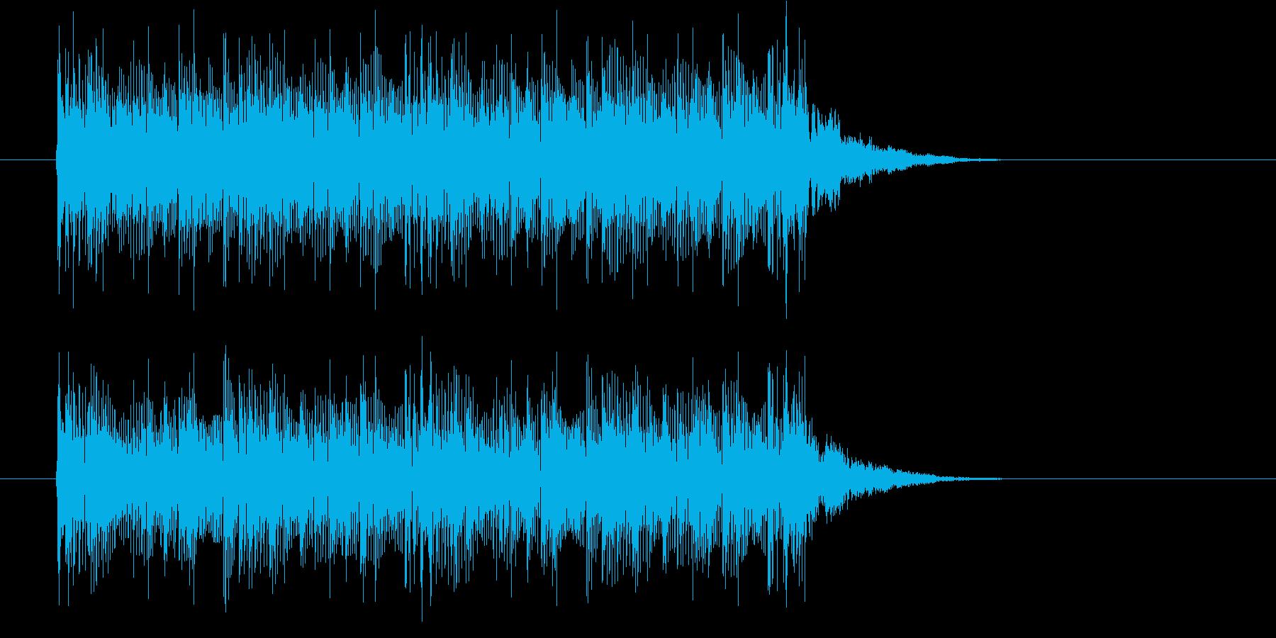 軽快なテクノポップスの再生済みの波形