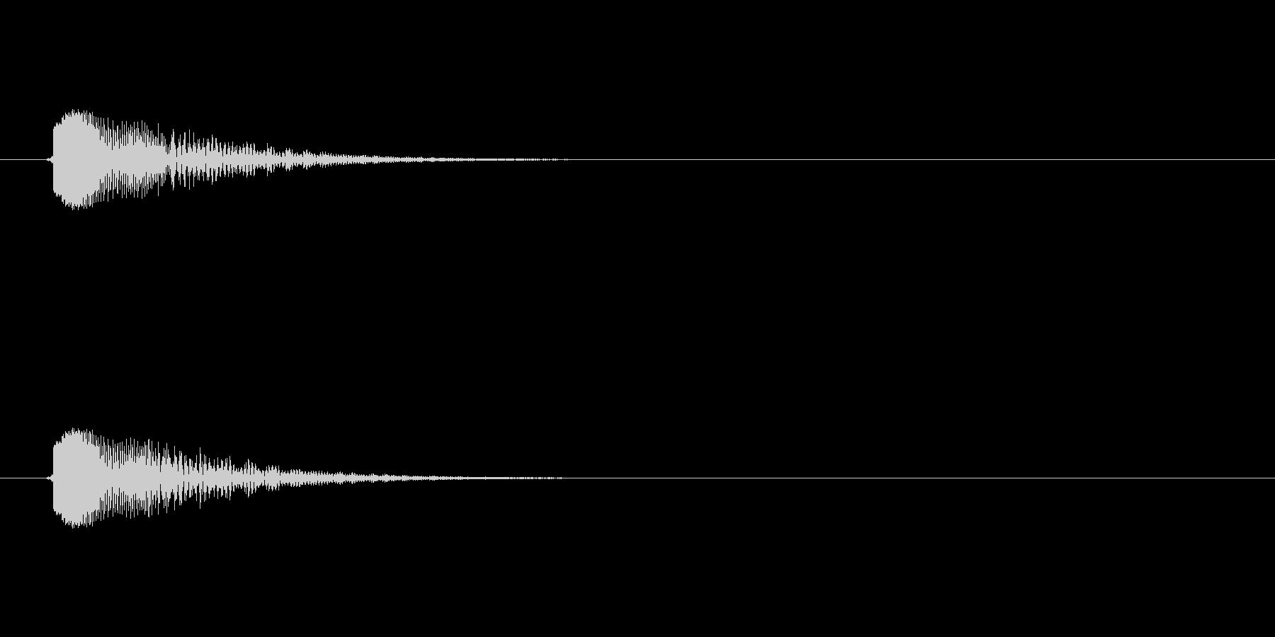 ポシィ(セレクト音,柔らかめ)の未再生の波形