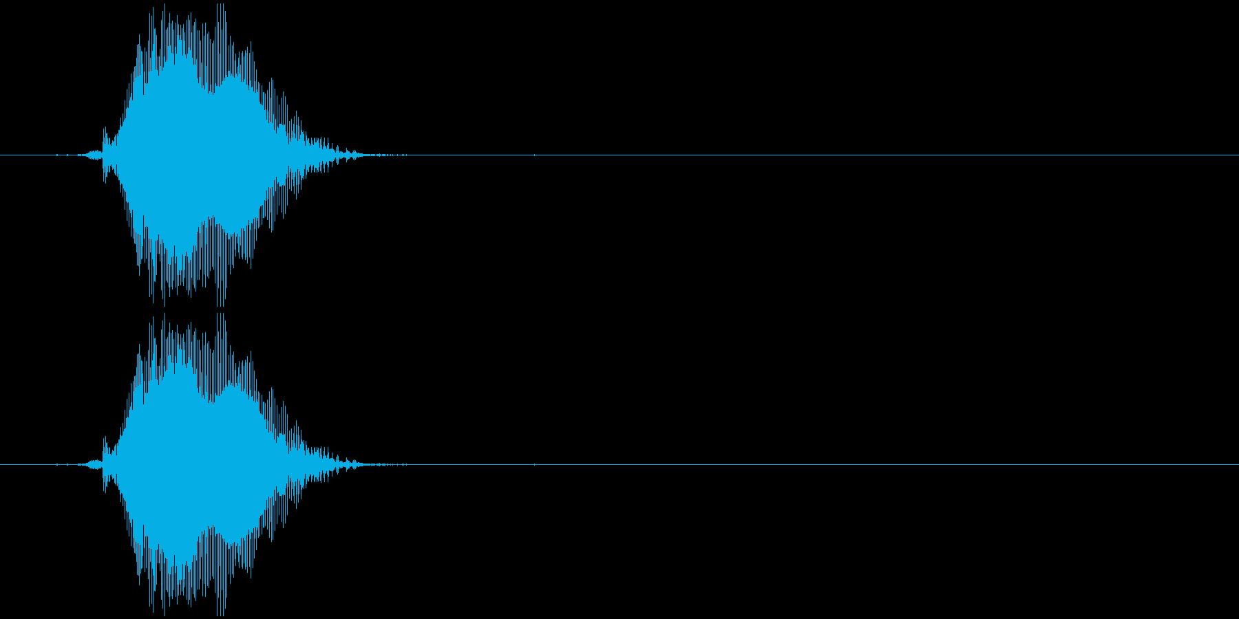 グーの再生済みの波形