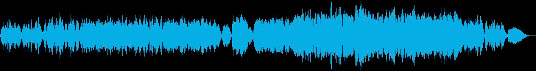 朗らかなオーケストラ楽曲の再生済みの波形