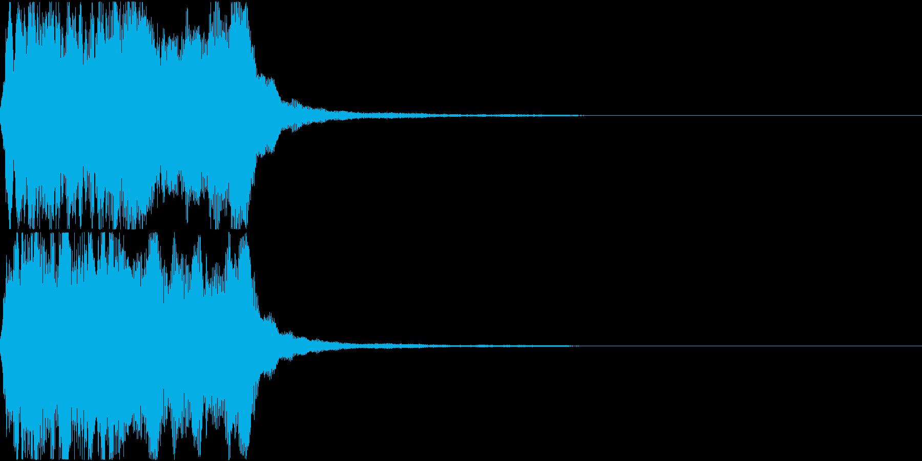 ラッパ ファンファーレ 定番 22の再生済みの波形