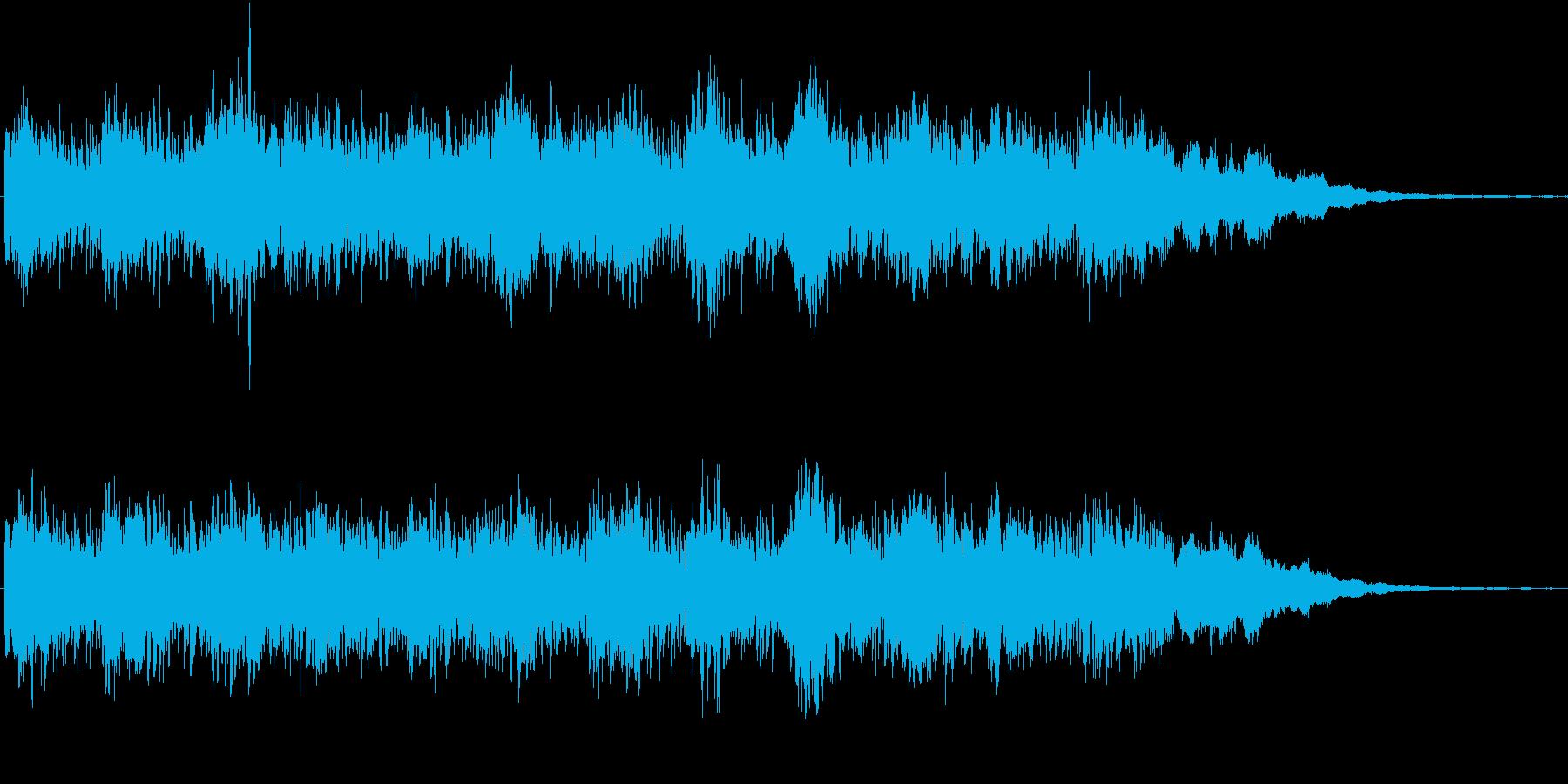 シンセの音色が印象的な奇妙なジングルの再生済みの波形