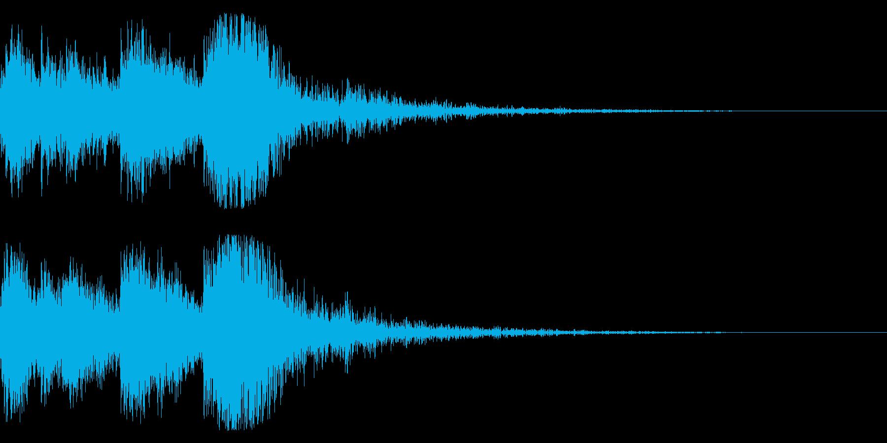 和風 オーケストラヒット ジングル!5bの再生済みの波形