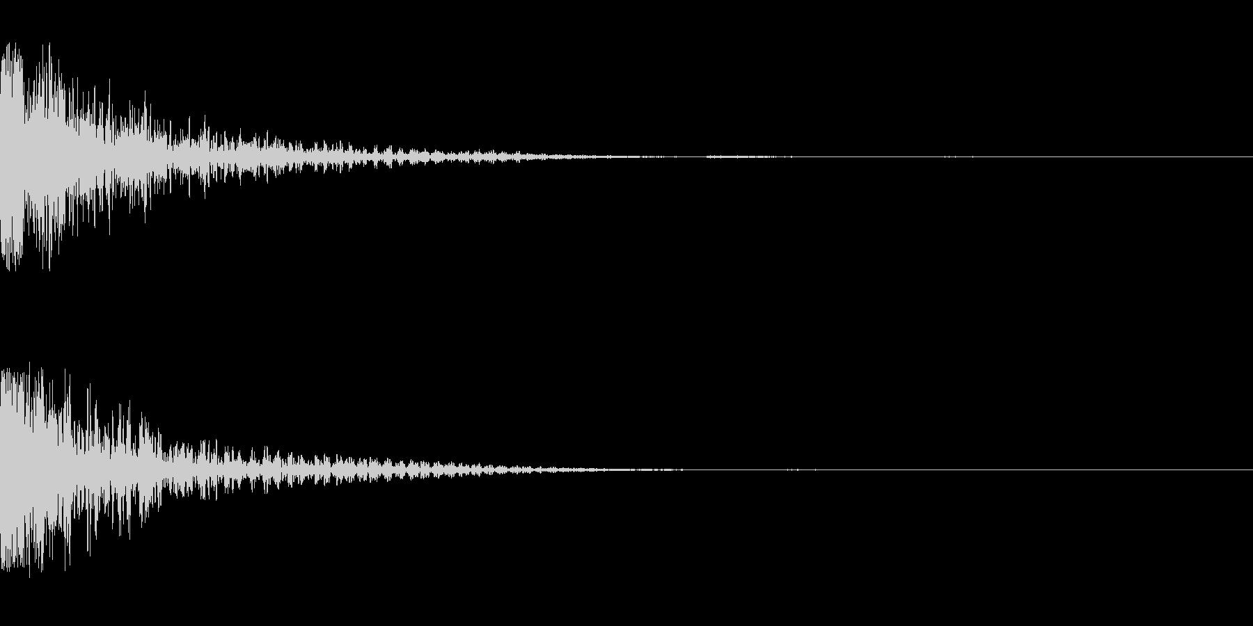 ジャン(インパクト)の未再生の波形