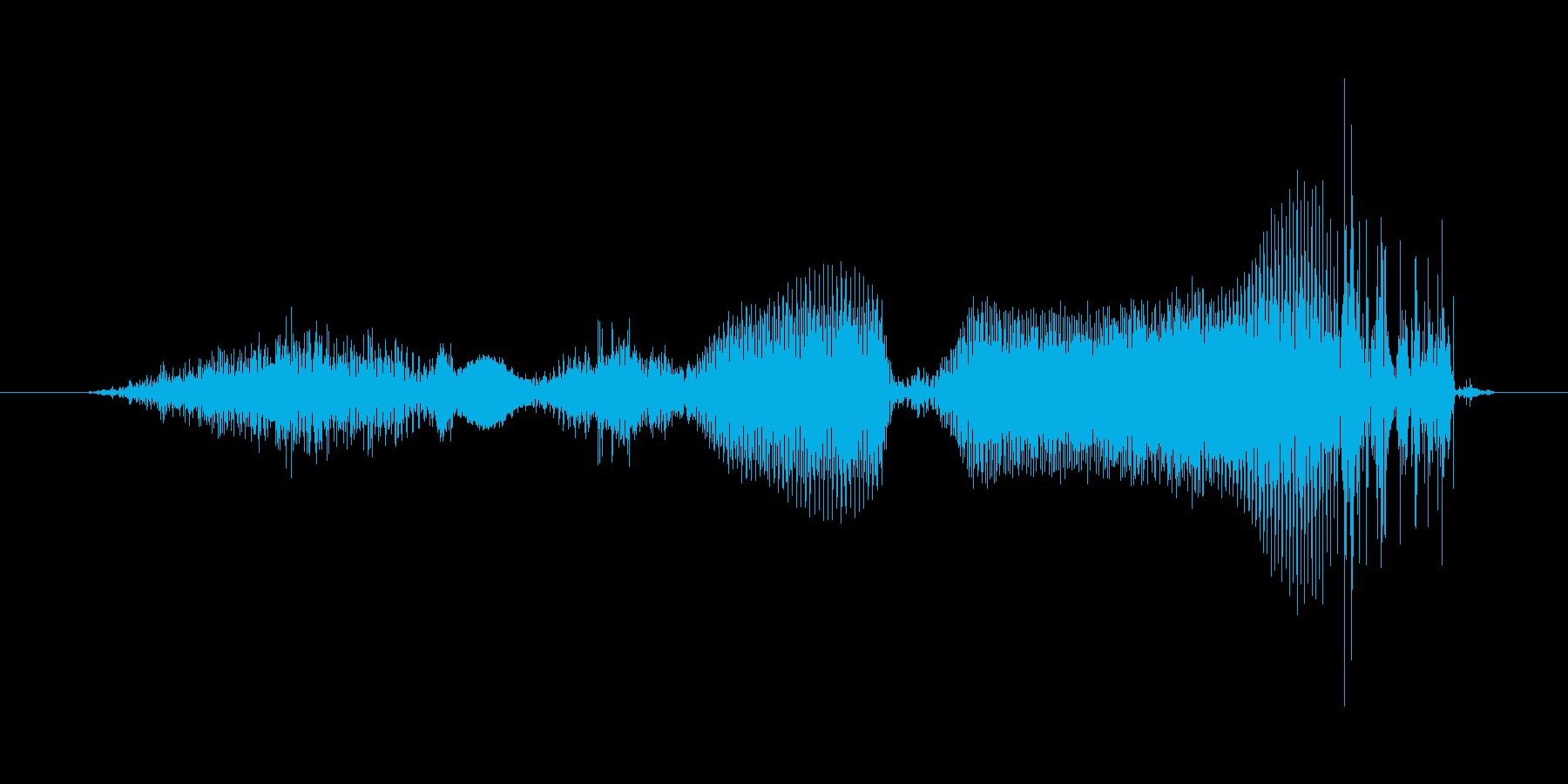 ハズレの再生済みの波形