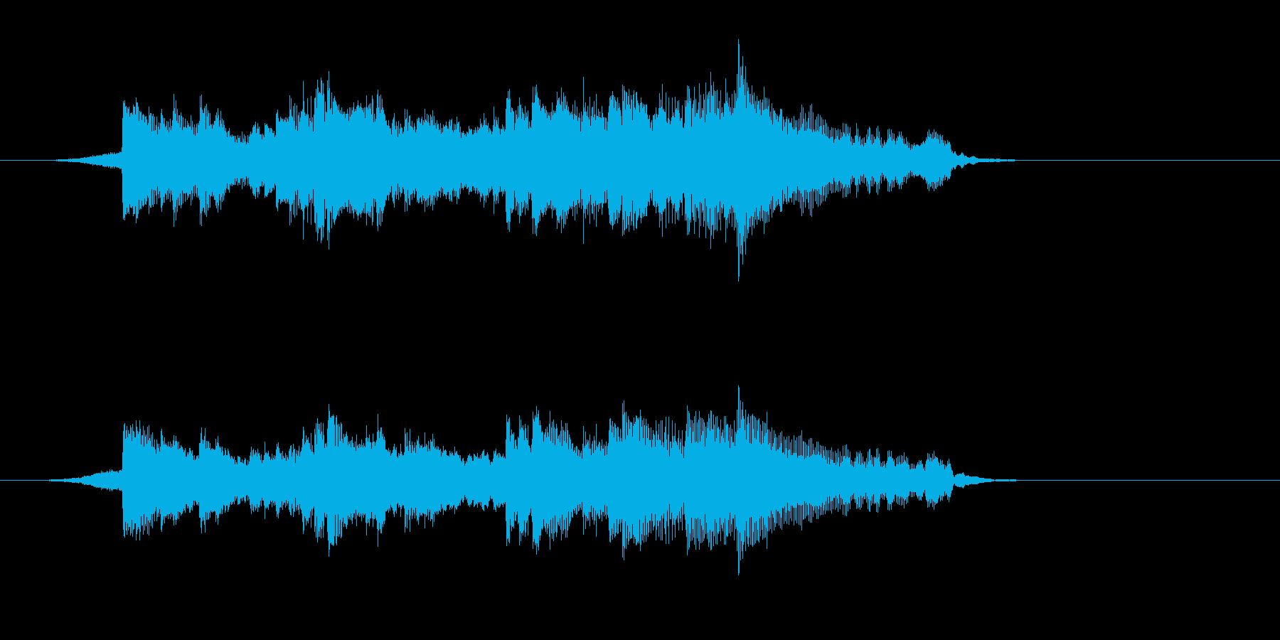 ジングル(ゆったりとした感じ)の再生済みの波形