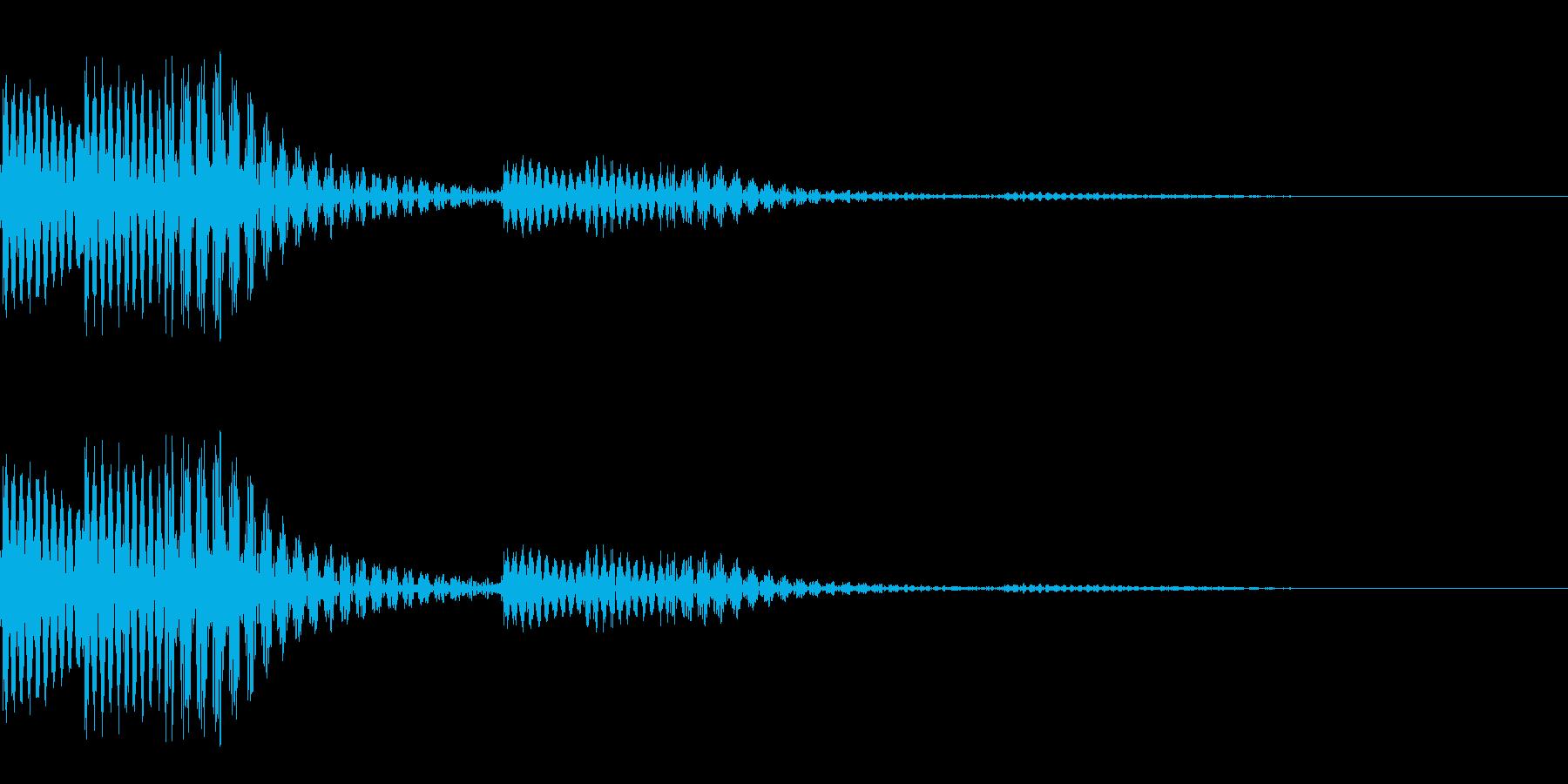 コロンとしたタッチ音です。の再生済みの波形
