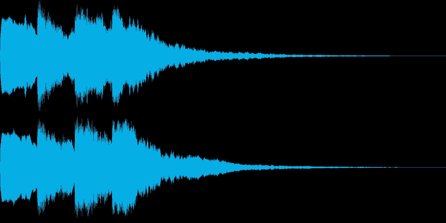 シンプル アナウンス 案内 放送 8の再生済みの波形
