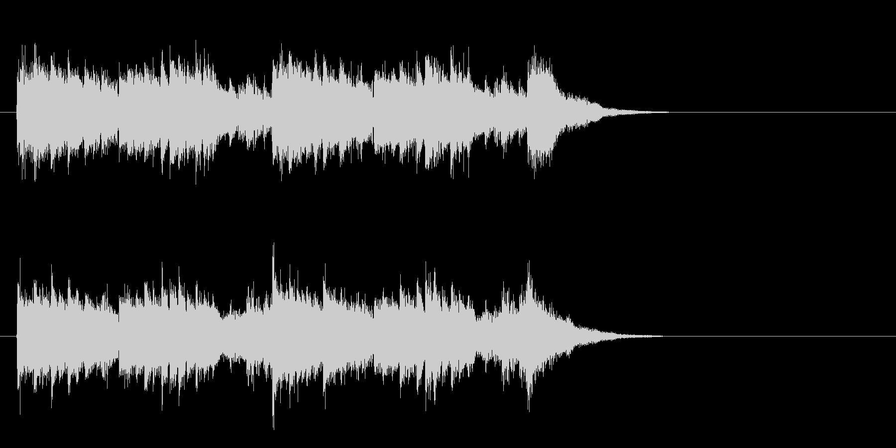 ジングル(SEを折り混ぜたポップス風)の未再生の波形