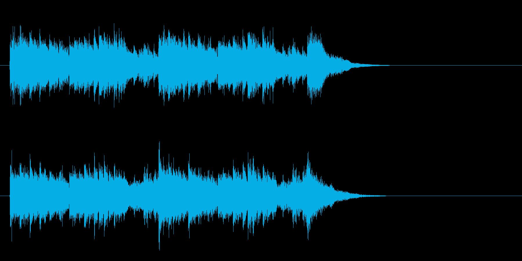 ジングル(SEを折り混ぜたポップス風)の再生済みの波形