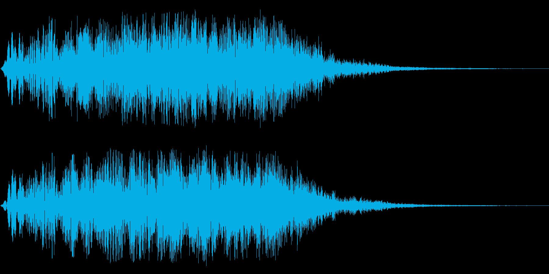 ブォーンと広がるジングル系スペース音の再生済みの波形