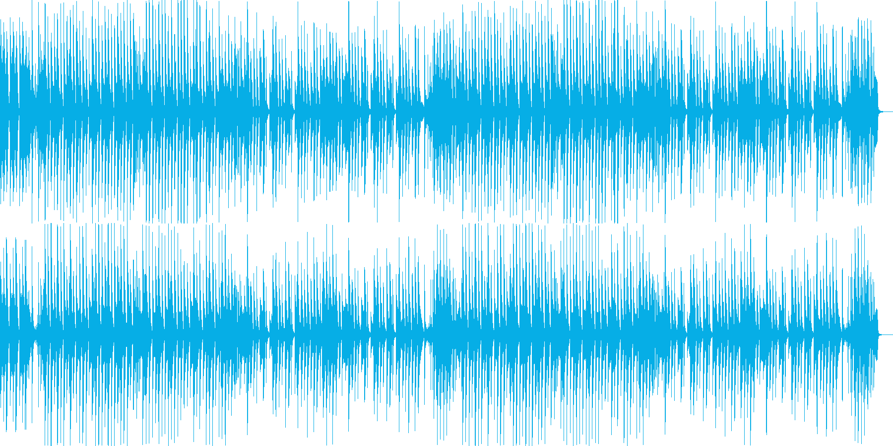日常系/ほのぼの系 シンプルなピアノ曲の再生済みの波形