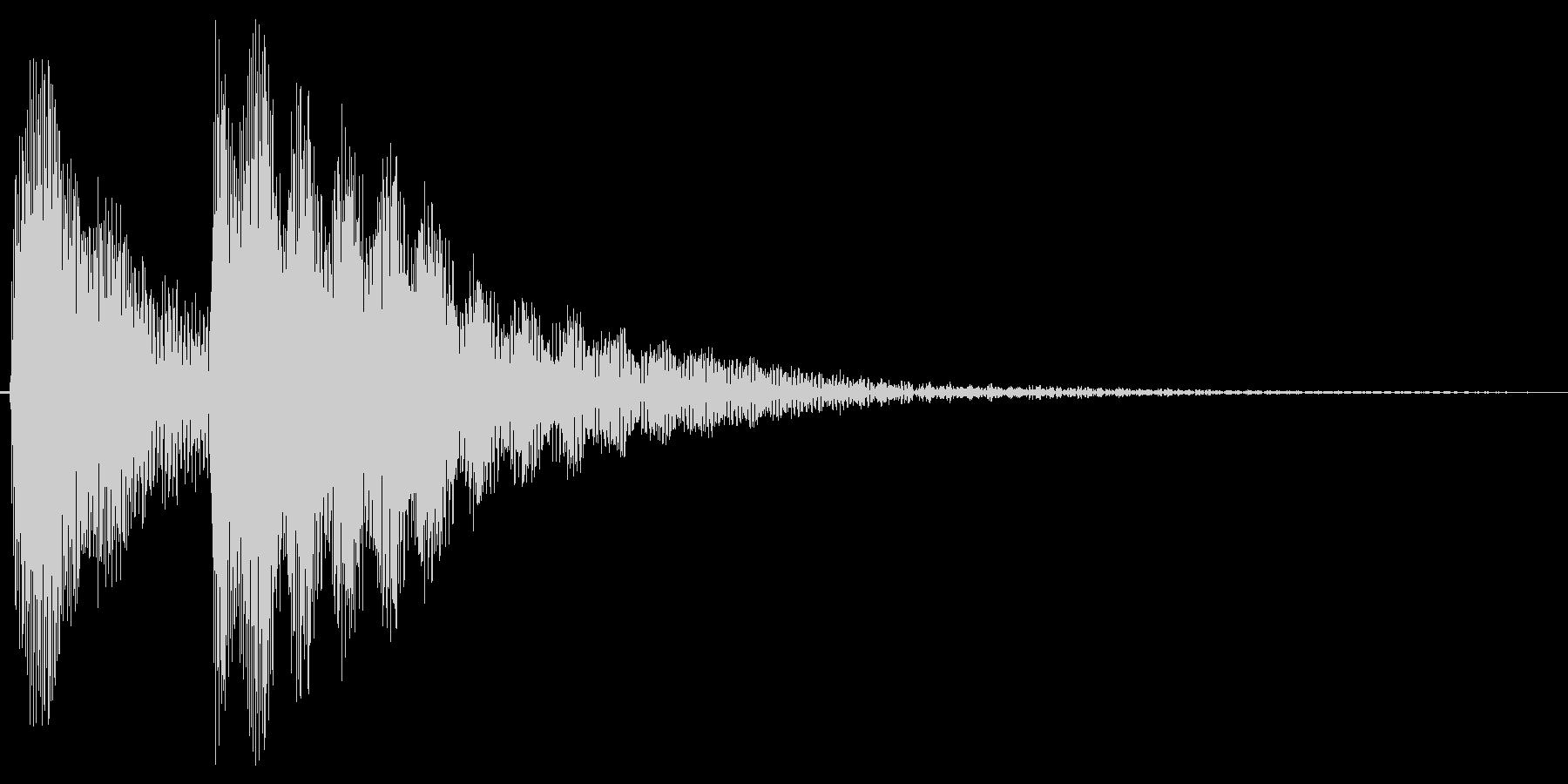 コテン。しらける・すべる音(低め)の未再生の波形