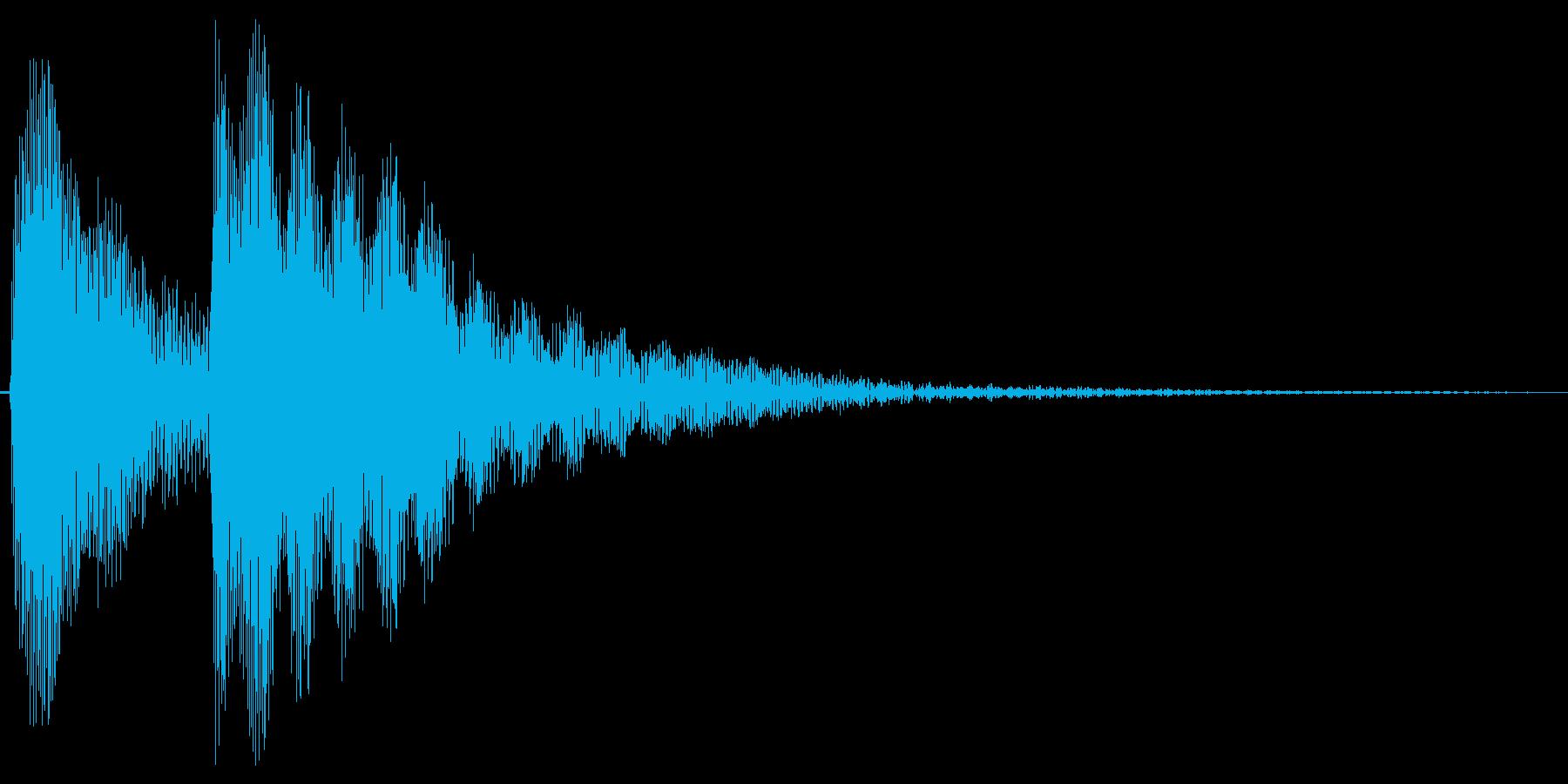 コテン。しらける・すべる音(低め)の再生済みの波形