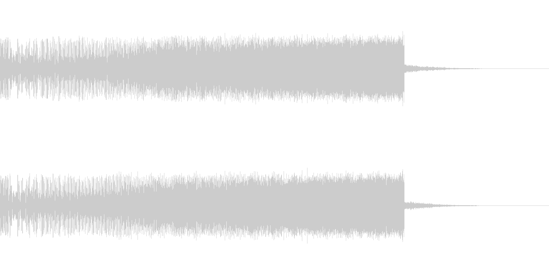 上昇音 シンセ01 【4秒】の未再生の波形