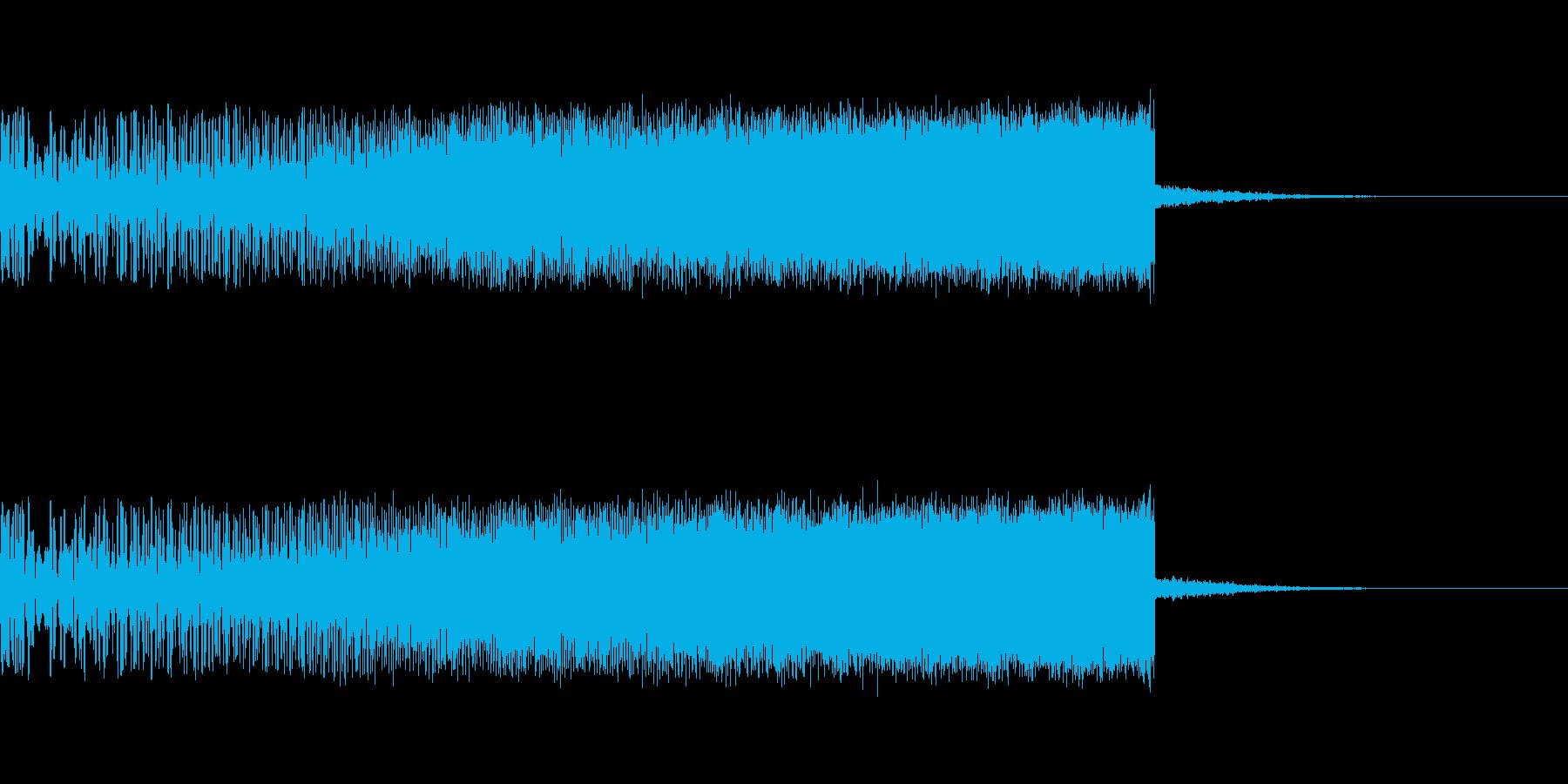 上昇音 シンセ01 【4秒】の再生済みの波形