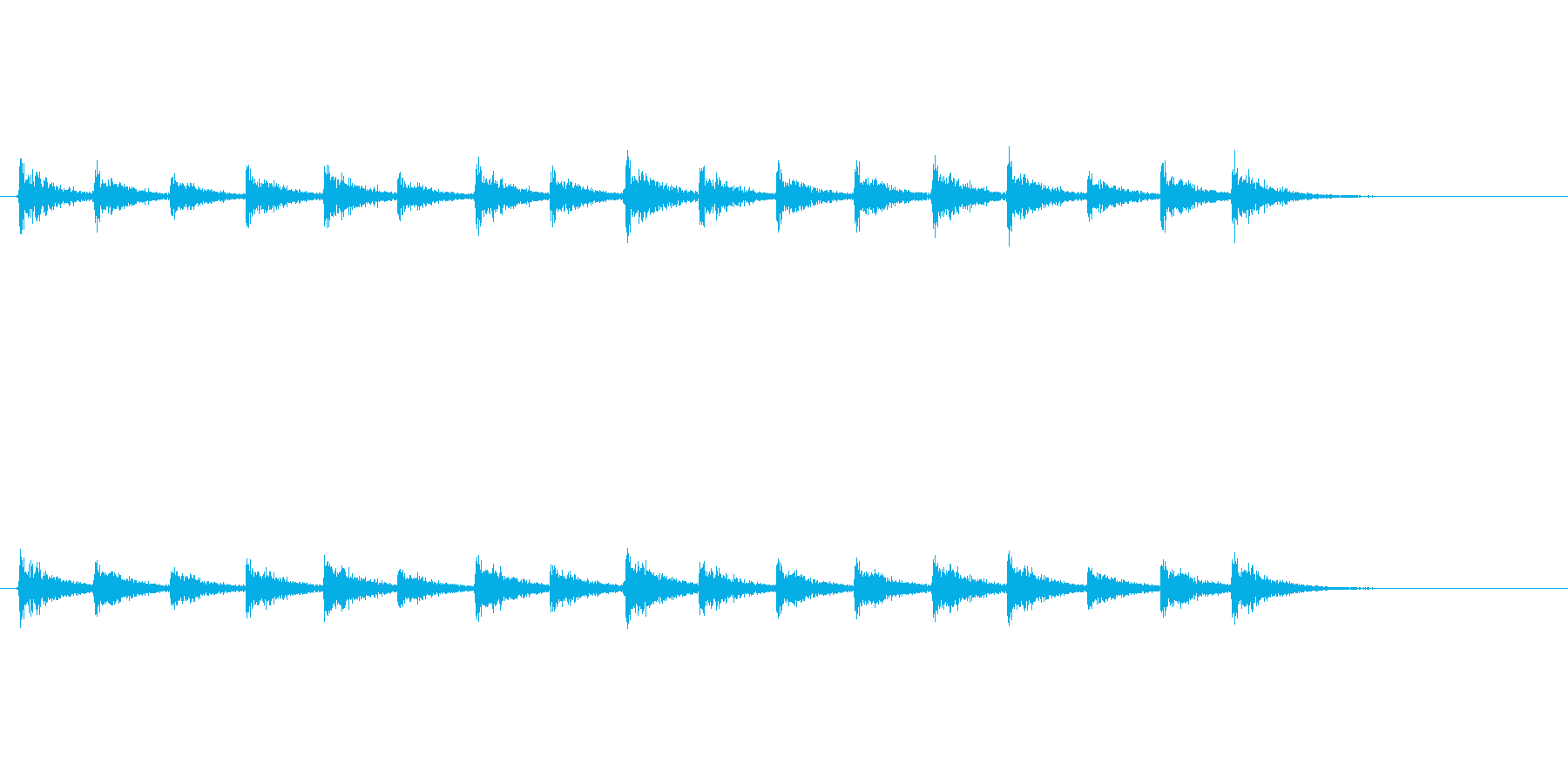 【足音03-4】の再生済みの波形