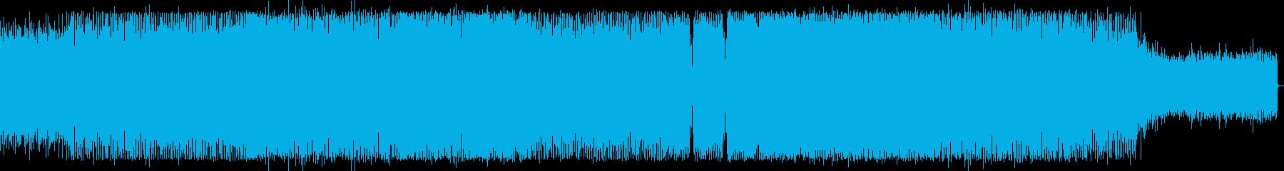 宇宙感のシンセサイザーなどハウス系EDMの再生済みの波形