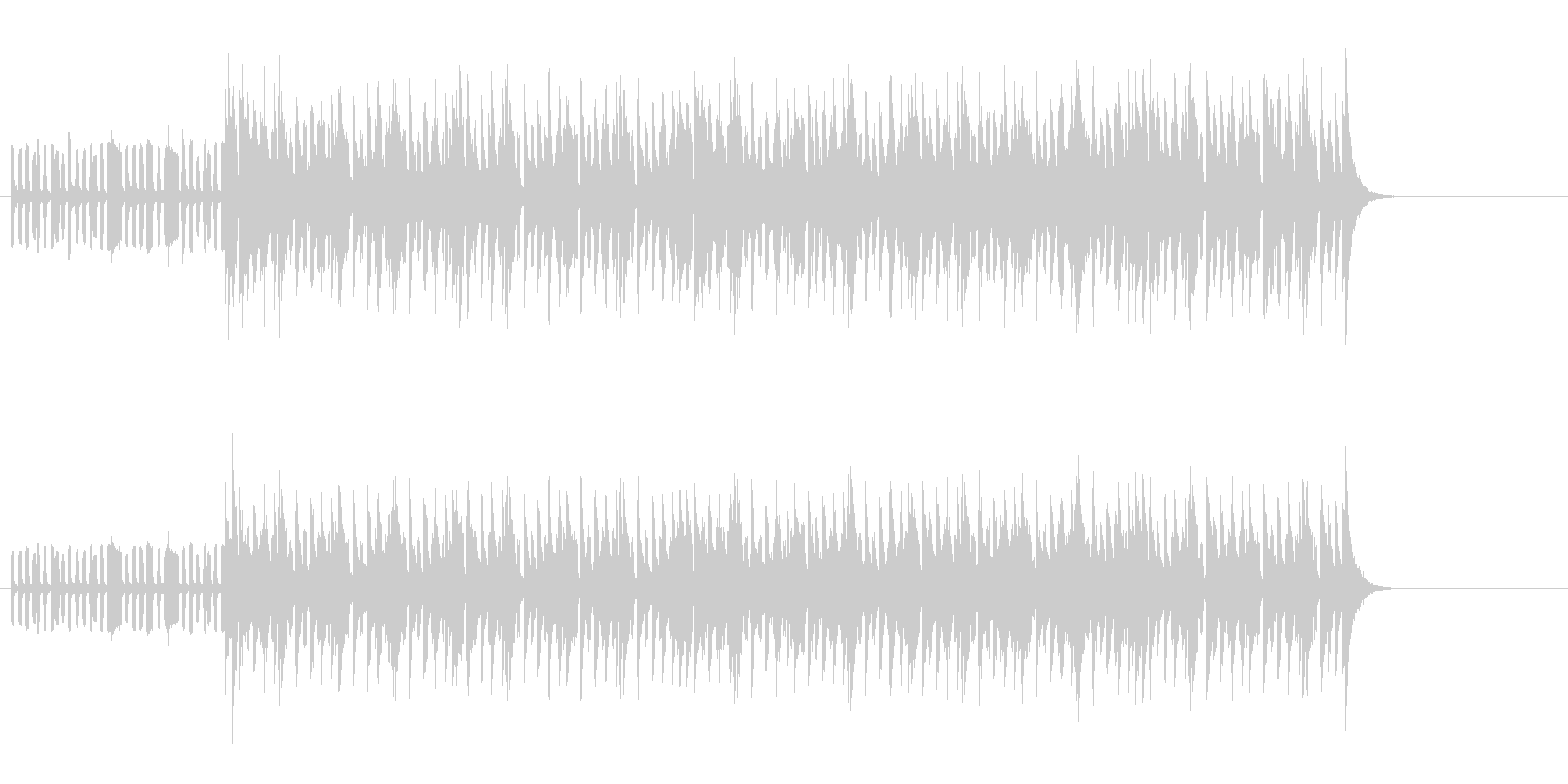 ブルーヴ感漂うテクノ・ミュージックの未再生の波形